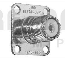 4240-050 UHF Female QC connectors, Bird 43