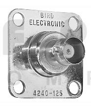 4240-125  BNC Female QC Connector, Bird Electronics