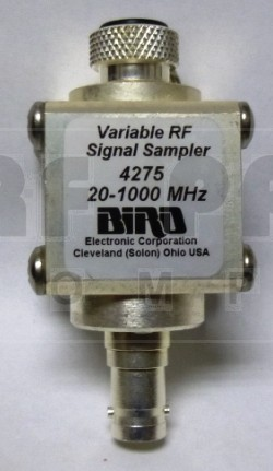 BIRD4275 Variable RF Signal Sampler, 20-1000 MHz, 2kw max, No connectors, Bird Elec