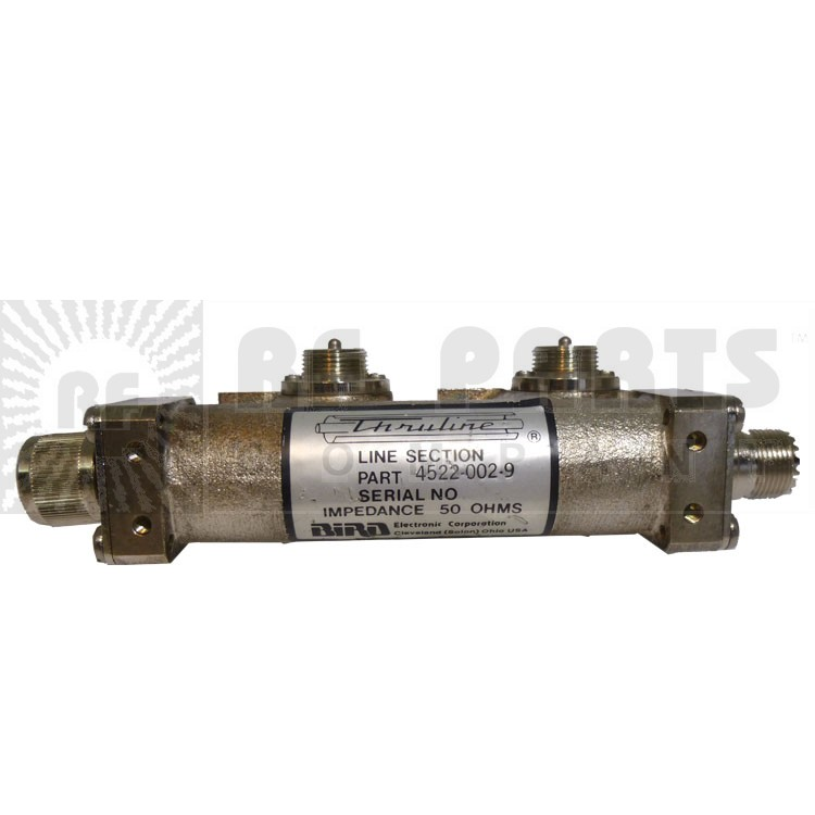 4522-002-9P  Dual Line Section, W/ UHF Male & UHF Female connectors on either side, Bird (Clean Used Conditon)