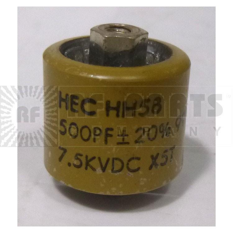 580500-5P Doorknob Capacitor, 500pf 5kv Clean Pullout