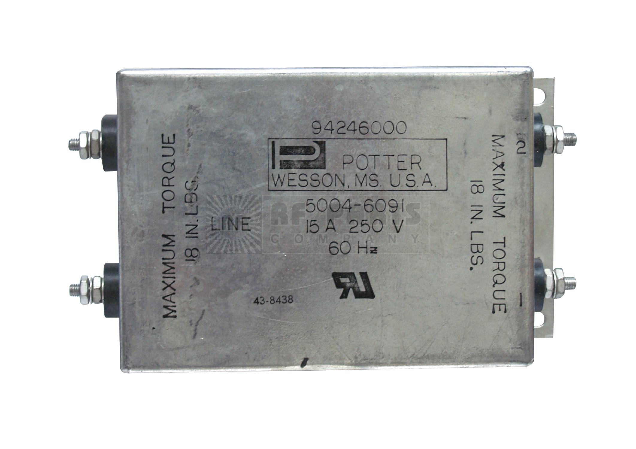5004-6091 Filter, emi, 15a 250 vac max
