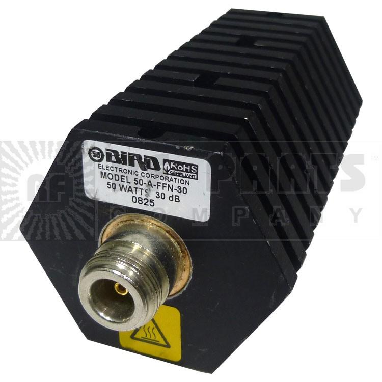 50AFFN-30 Attenuator, 50 Watt, 30dB, Type-N Female/Female, Bird Elec