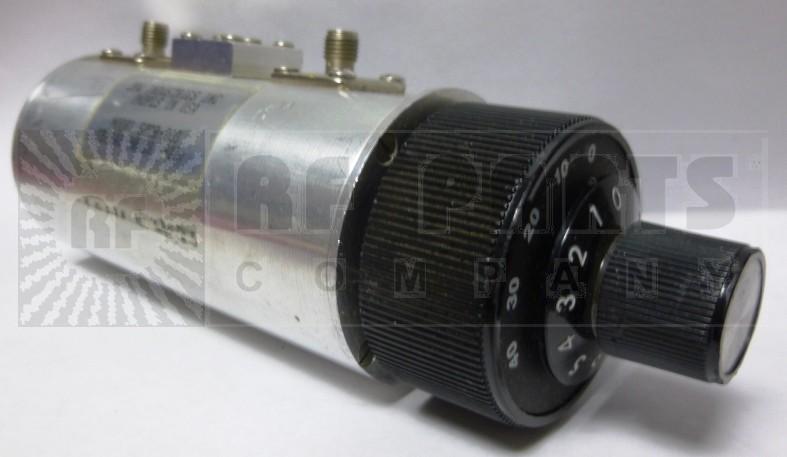 50DR-003 Attenuator, Rotary, Dual Concentric, 0-50dB / 1 db steps, SMA Female, JFW