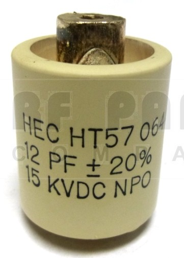 570012-15 Doorknob Capacitor, 12pf 15kv, High Energy