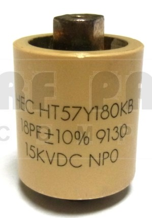 570018-15P; Doorknob Capacitor, 18pf 15kv, High Energy (Clean Pullout)