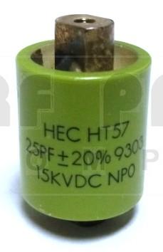 570025-15P-20 Doorknob Capacitor, 25pf 15kv (Clean Used) 20%
