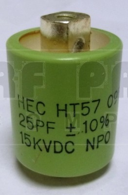 570025-15 Doorknob Capacitor, 25pf 15kv, High Energy