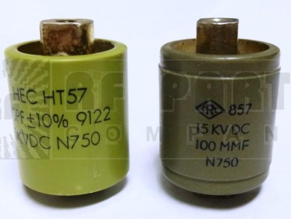 570100-15P Doorknob Capacitor,100 pf 15kv, Clean pullout
