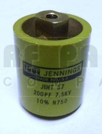 CRL857-200P  Doorknob Capacitor, 200pf 7.5kv (Large Size)