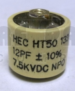 580012-7 Doorknob, 12pf 7.5kv, Ht50v120ka 10% high energy