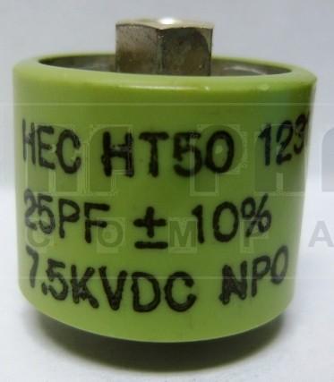 580025-7 - Doorknob Capacitor 25pf 7.5kv