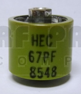 580067-4 Doorknob Capacitor, 67pf 4kv, High Energy