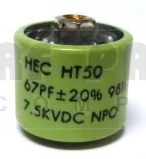 580067-7 Doorknob Capacitor, 67pf 7.5kv