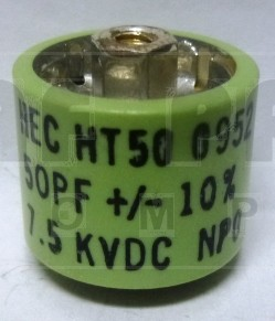 580500-7  Doorknob Capacitor, 500pf 7.5kv, HEC