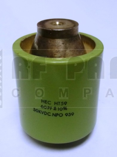 590060-30  Doorknob Capacitor, 60pf 30kv, High Energy (Clean Used)