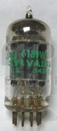6189W/12AU7W  Receiving Tube, JAN/GE