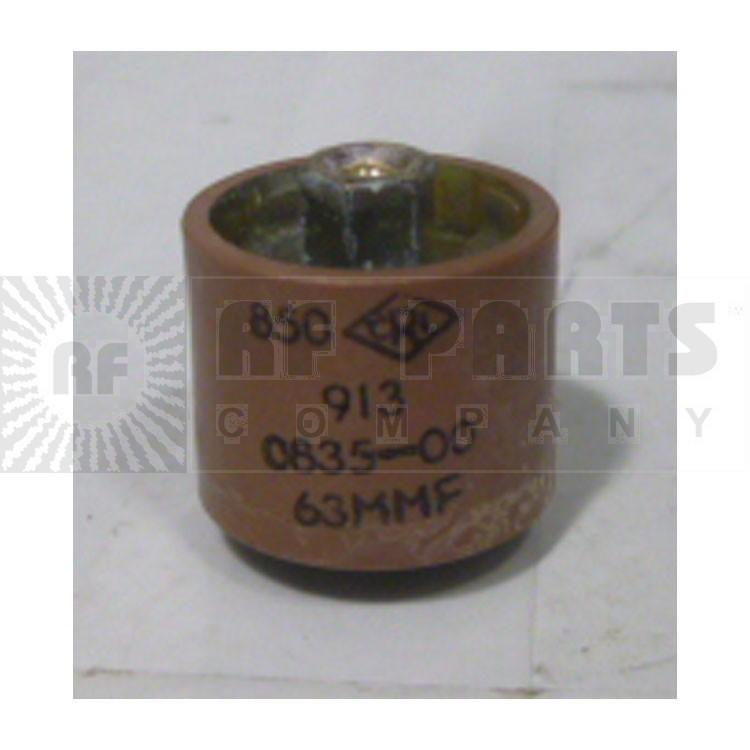 580063-5P Doorknob, 63pf 5kv, Clean pullout