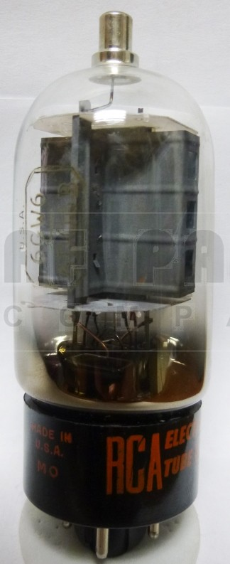 6DQ6 Tube, Beam Power Amplifier, 6BQ6A / 6BQ6B / 6GW6, RCA