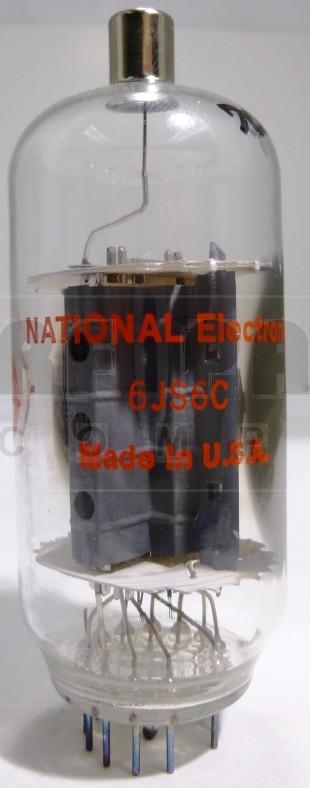 6JS6CMP-NAT  Transmitting Tube, Matched Pair, National