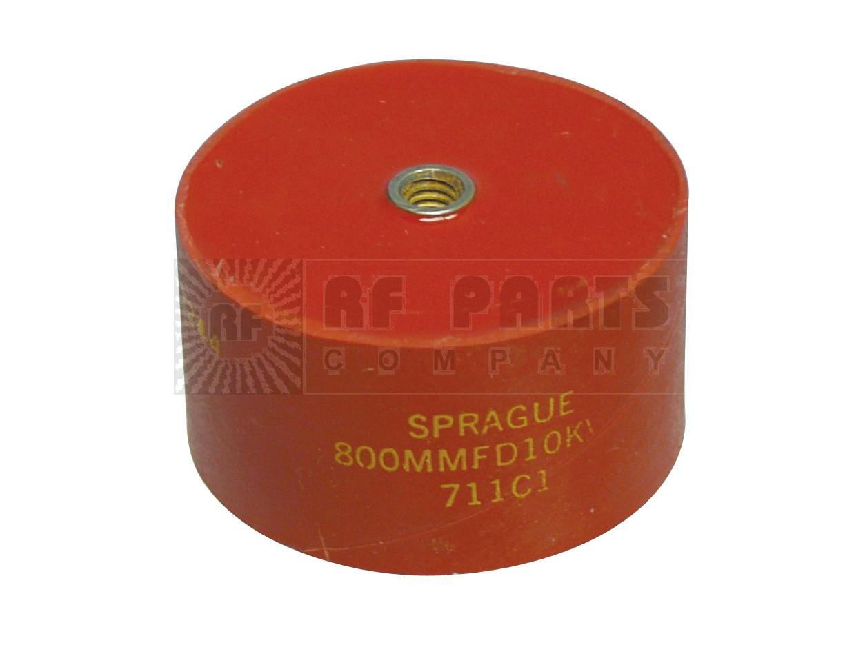 711C1800-10 Doorknob Capacitor, 800pf 10kv, Sprague