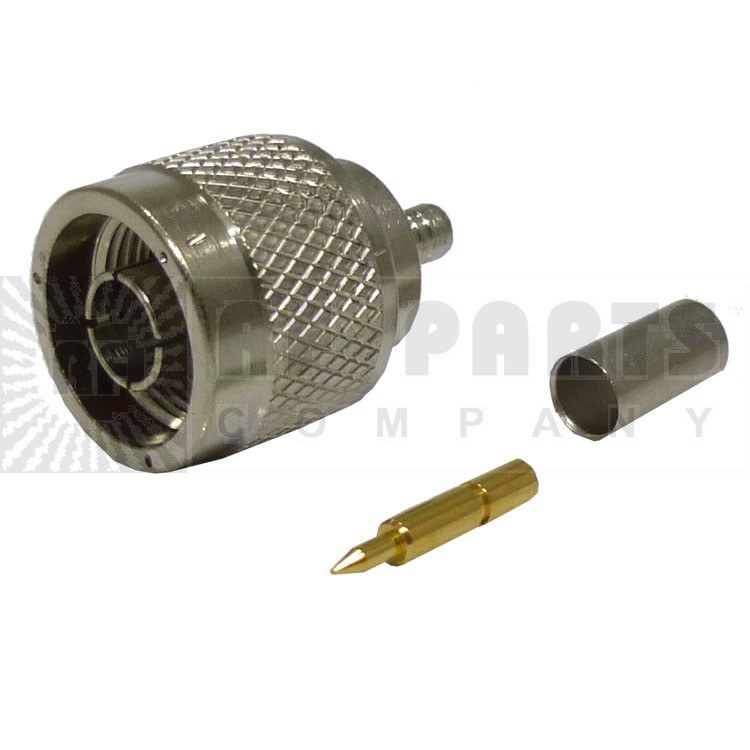 82-5370 Type-N Male Crimp Connector, Straight, Knurled Nut, (Industrial Version), APL/RF