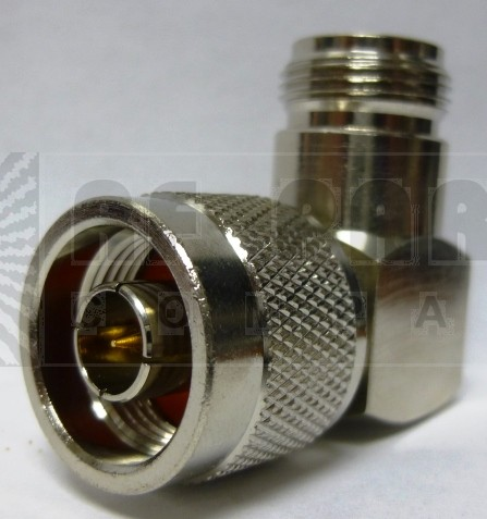 82-64-RFX  Type-N IN Series Adapter, Male to Female Right Angle, Square Body (Commercial version), APL/RF