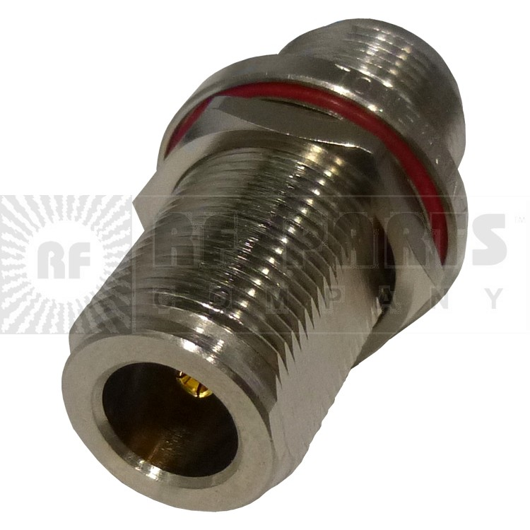 82-66-RFX Type-N IN Series Adapter, Female to Female Barrel, Bulkhead, Amphenol/RF