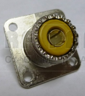 83-1R UHF Female 4 Hole Flange Chassis Mount Connector, Solder Cup (SO239/A), APL/RF