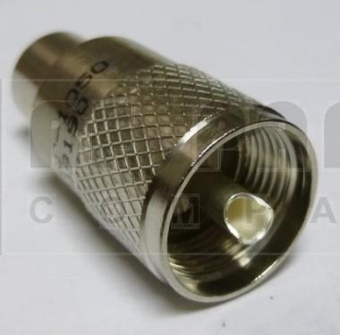 83-1SP-1050 UHF Male Solder Connector (PL259) Straight, Knurled Nut, APL/RF