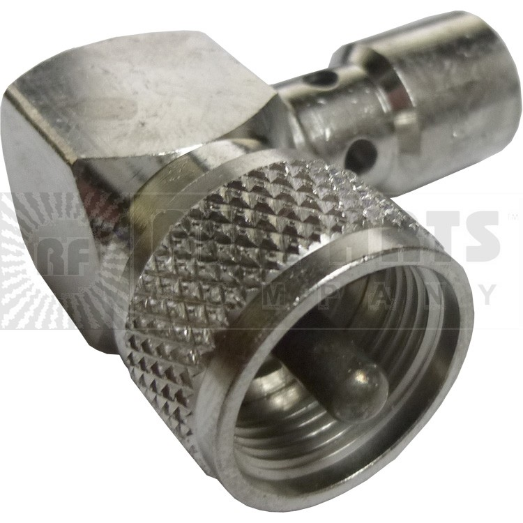 83-59  UHF Right Angle Male Solder Connector (PL259-Right Angle)
