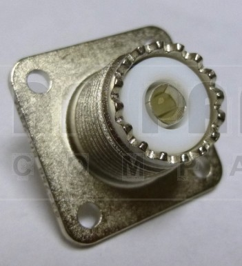 83-798 UHF Female 4 Hole Flange Chasis Mount Connector, Solder Cup (SO239/A), APL/RF