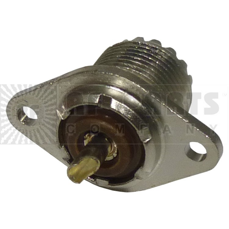83-876 UHF Female Chassis Connector, 2 Hole Flange, Solder Cup APL/RF