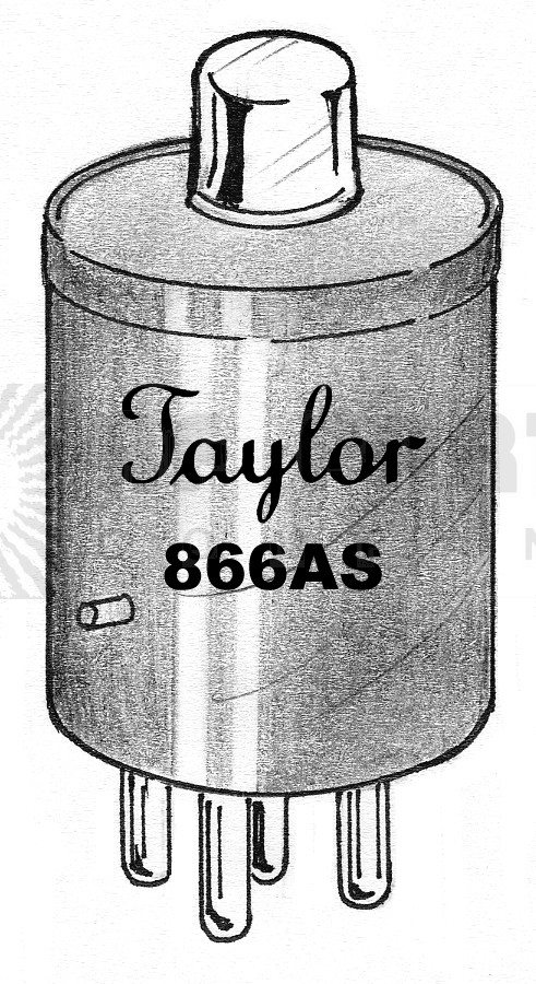 866AS Tube, Tube, rf parts/taylor elec, Solid state replacement, Small plate cap