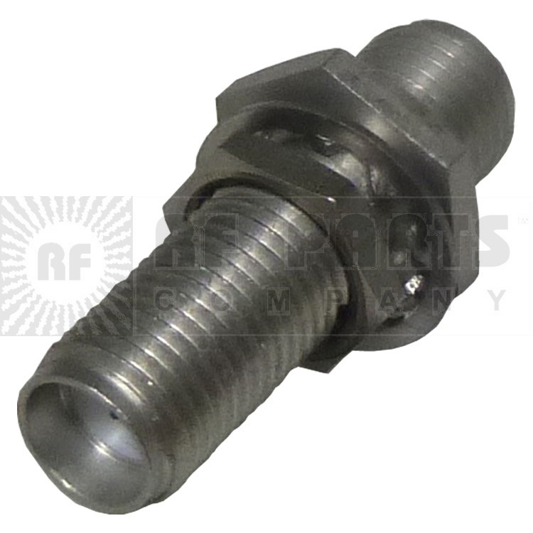 """901-9209-ASF SMA IN Series Adapter, Female to Female Bulkhead, Straight, 7/8"""" inch long, Nickel, APL/RF"""