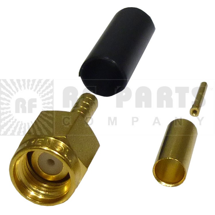 901-9511-3 SMA Male Crimp Connector, Straight, Hex Nut (Industrial Grade), APL/RF