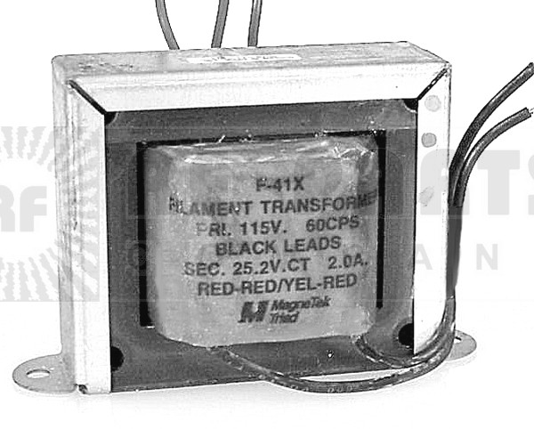 F41X Transformer, 25.2 vct, 2amp magna tek triad