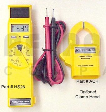 HS26 Digital Multimeter W/ACH Clamp & Test Leads, Fieldpiece