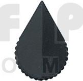 KNOB1K Tuning knob black .71 x .61, Arrow pointer
