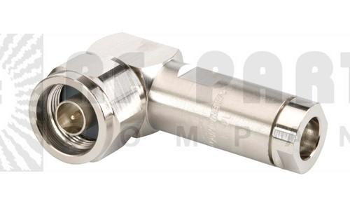 L1TNR-PL Type-N Male Connector, Right Angle, Hex Nut, LDF1-50