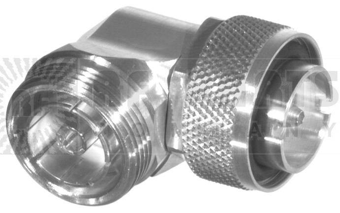 RFD1652-2 7/16 DIN IN Series Adapter, Male to Female Right Angle, RFI