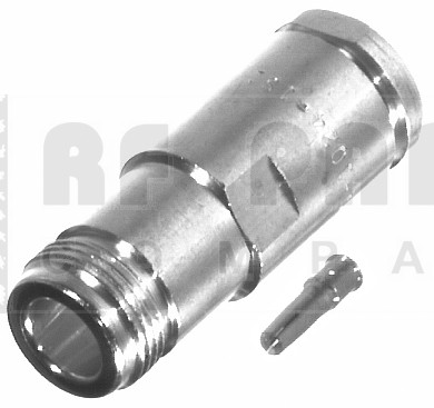 RFN1024-1SI Type-N Female Clamp Connector, LMR400, 9913, RFI