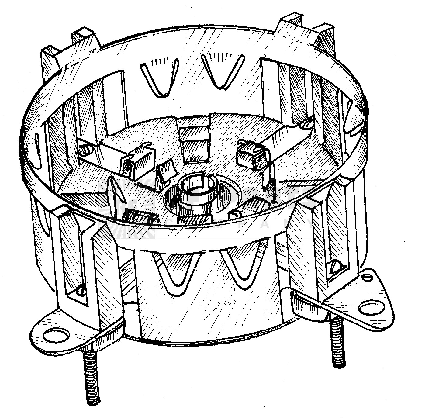 SK3A Tube socket, 4cx1600b