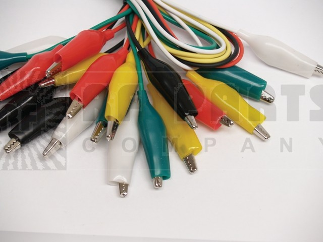 ACL2 Alligator Clip Leads, 10pcs, Standard. 5 colors 18""
