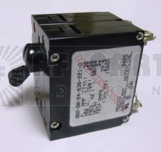 BB2-B0-24-630-221-D Circuit Breaker, Dual AC, 30a, Carlingswitch