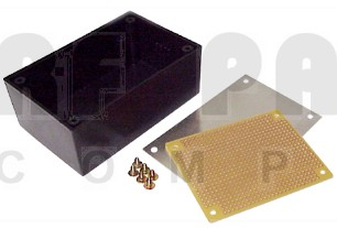 "BOX8921 Plastic project box, alum top, 2.75"" x 1.75"" x 1.125"", Matching pcb is PCB8921"