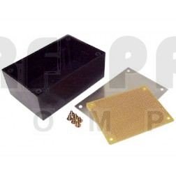 "BOX8924 Plastic project box, alum top, 5.25"" x 3.25"" x 1.5"", Matching pcb is PCB8924"