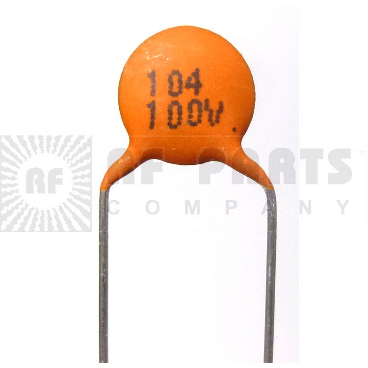 C104-100 Capacitor, disk .1uf 100v