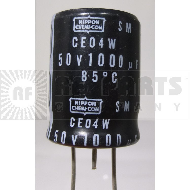 CE04W Capacitor, electrolytic, Radial 1000 uf, 50v, mfg: chemicon