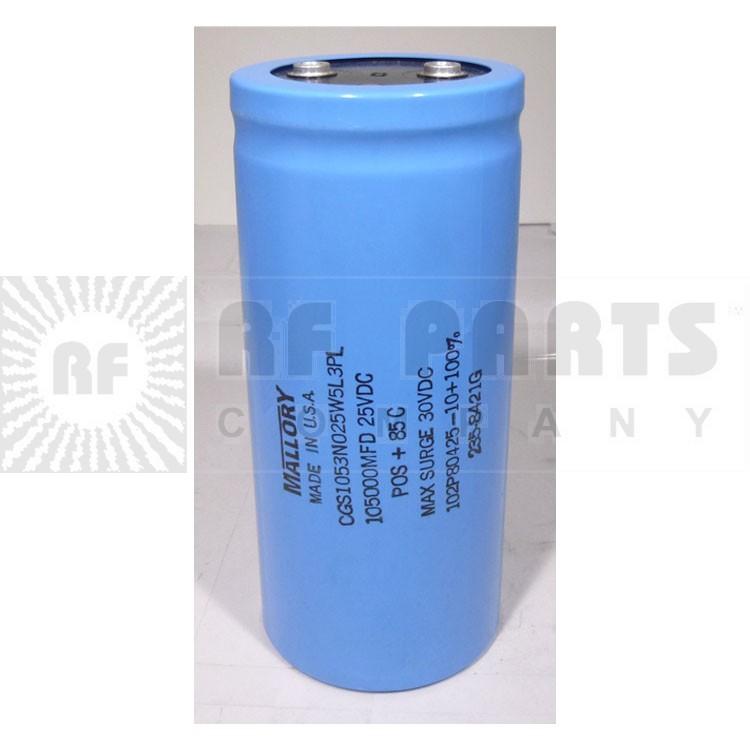 CGS1053N Capacitor, electrolytic, 105,000 uf/25vdc mfg mallory